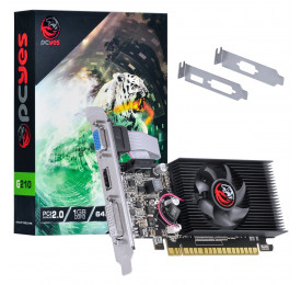 Placa de Video Geforce PCYES G 210 1GB DDR3 PA210G6401D3LP