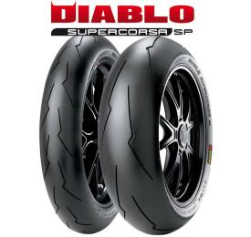 Par Pneu Pirelli Super Corsa 120/70 / 180/55 SP V3