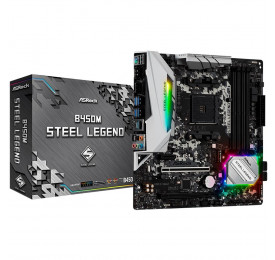 Placa Mãe ASROCK B450 Steel Legend AM4