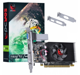 Placa de Video Geforce PCYES GT 710 2GB DDR3 PA710GT6402D3LP