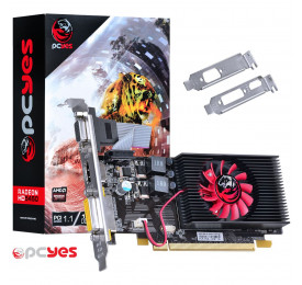 Placa de Video Radeon PCYES HD 5450 1GB PTYT54506401D3LP