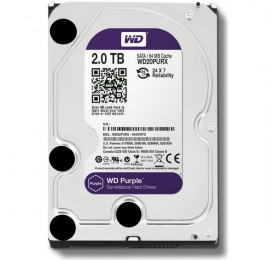 HD Western Digital Purple WD20PURX 2TB 64MB SATA III