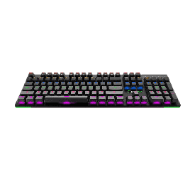 Teclado Gamemax Gamer Mecânico KG801 Switch Blue RGB