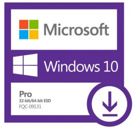 Licença de Uso Microsoft Windows 10 PRO ESD FQC-09131 (Regularização)